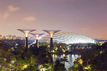 Gardens by the Bay Cloud Forest Botanic Garden, Singapore, Southeast Asia, Asia
