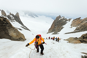 Glacier du Tour on Aiguille du Tour, Chamonix Valley, Rhone Alps, Haute Savoie, France, Europe