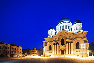 St. Michael the Archangel's Roman Catholic church, Neo-Byzantine style, Kaunas, Lithuania, Europe