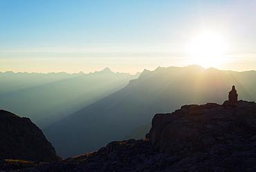 Brevant landscape at sunset, Chamonix, Rhone Alpes, Haute Savoie, France, Europe