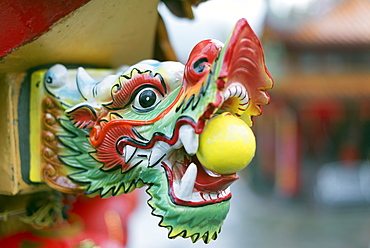 Detail, Chinese temple, Jiufen, Taiwan, Asia