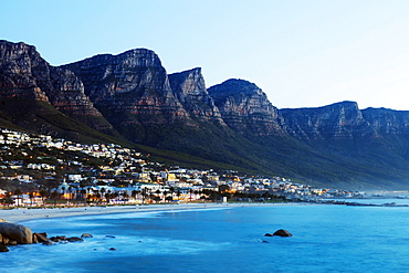 Camps Bay and Twelve Apostles, Table Mountain National Park, Cape Town, Western Cape, South Africa, Africa