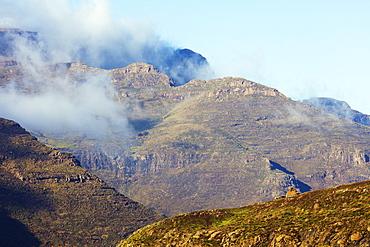 Highland scenery near Mahlasela Pass, Lesotho, Africa