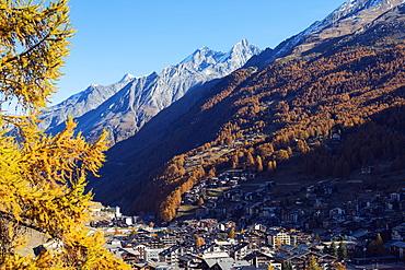 Zermatt in autumn, Valais, Swiss Alps, Switzerland, Europe