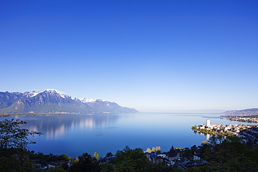 Lake Geneva (Lac Leman), Montreux, Vaud, Switzerland, Europe