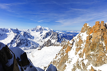 Mont Blanc 4810m, Chamonix, Rhone Alpes, Haute Savoie, French Alps, France, Europe