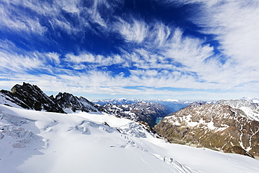 View from Dent d'Herens, Aosta Valley, Italian Alps, Italy, Europe