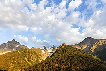 Glacier des Bossons, Mont Blanc massif, Chamonix, Rhone Alpes, Haute Savoie, France, Europe