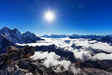 View from Ama Dablam, Sagarmatha National Park, UNESCO World Heritage Site, Khumbu Valley, Nepal, Himalayas, Asia