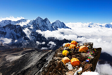 Camp 2 on Ama Dablam, Sagarmatha National Park, UNESCO World Heritage Site, Khumbu Valley, Nepal, Himalayas, Asia