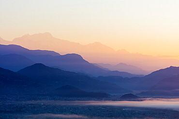 Sunrise from Sarangkot, Pokhara, Nepal, Asia