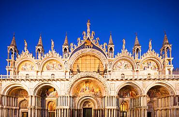 St. Mark's Basilica, St. Marks Square, San Marco, Venice, UNESCO World Heritage Site, Veneto, Italy, Europe