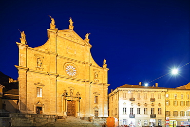 La Collegiata church of St. Peter and Stephan, UNESCO World Heritage Site, Bellinzona, Ticino, Switzerland, Europe