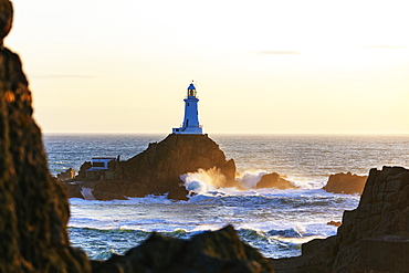 Corbiere Point Lighthouse, Jersey, Channel Islands, United Kingdom, Europe