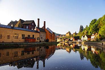 Vltava River, Cesky Krumlov, UNESCO World Heritage Site, South Bohemia, Czech Republic, Europe