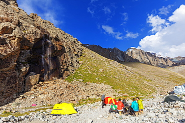 Ratsek camp, Ala Archa National Park, Bishkek, Kyrgyzstan, Central Asia, Asia