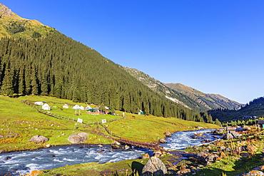 Altyn Arashan, Karakol, Kyrgyzstan, Central Asia, Asia