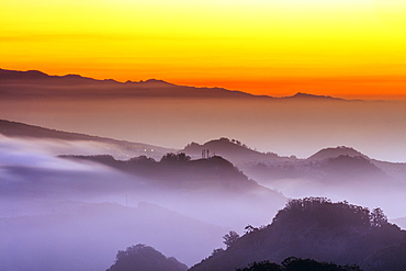 Sunset, Pico del Teide, 3718m, highest mountain in Spain, Teide National Park, UNESCO World Heritage Site, Tenerife, Canary Islands, Spain, Atlantic, Europe