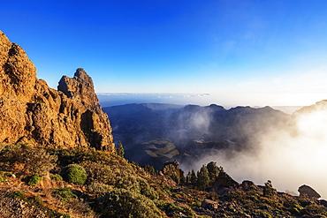 Pico de Las Nieves, 1949m, highest point in Gran Canaria, Gran Canaria, Canary Islands, Spain, Atlantic, Europe