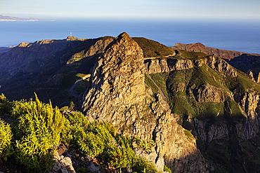 Roque de Agando, Garajonay National Park, UNESCO World Heritage Site, La Gomera, Canary Islands, Spain, Atlantic, Europe