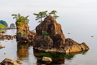 Coastal scenery, Kanazawa city, Ishikawa prefecture, Honshu, Japan, Asia