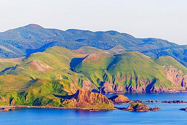 Coastal scenery, Rebun island, Hokkaido, Japan, Asia