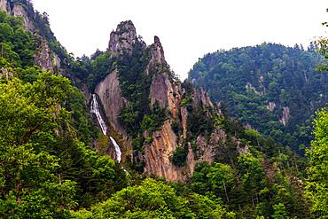 Ginga Falls, Sounkyo, Daisetsuzan National Park, Hokkaido, Japan, Asia