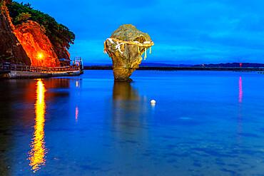 Heishiiwa rock, Esashi, Hokkaido, Japan, Asia