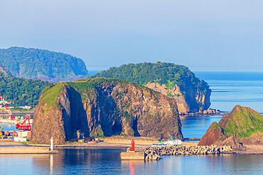 Utoro Harbour, Shiretoko National Park, Hokkaido, Japan, Asia