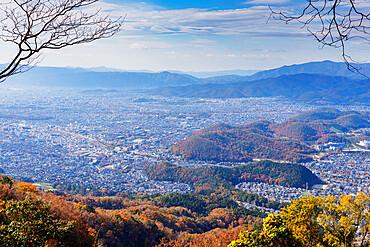 City view in autumn, Kyoto, Kansai, Japan, Asia