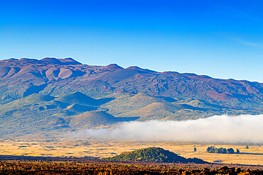 Volcanic landscape with Mauna Kea, 4207m, Big Island, Hawaii, United States of America, North America