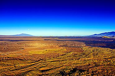 Aerial view of volcanic landscape, Mauna Kea, Big Island, Hawaii, United States of America, North America