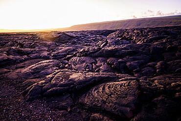 Lava flow, Hawaii Volcanoes National Park, UNESCO World Heritage Site, Big Island, Hawaii, United States of America, North America