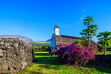 Church on the road to Hana, Maui Island, Hawaii, United States of America, North America