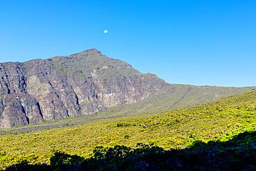Moonrise, Haleakala National Park, Maui Island, Hawaii, United States of America, North America