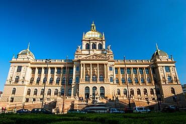 National Museum, Wenceslas Square, New Town, Prague, Czechia, Europe