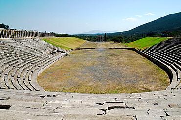The ancient Messene Stadium, Messene, Peloponnese, Greece, Europe