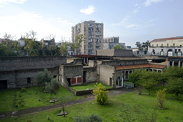 A view of Torre Annunziata a town just outside Naples where the ancient villa of Oplontis was found, Torre Annunziata, Campania, Italy, Europe