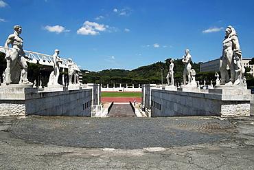 View of the Marble Stadium, Rome, Lazio, Italy, Europe