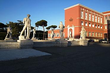 The Red CONI building the Italian Sport Headquarters, Rome, Lazio, Italy, Europe