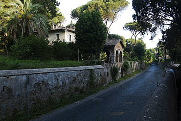 The first stretch of the Appian Road was built by the consular Appio Claudio Cieco (Appius Claudius Caecus) 312 BC, Rome, Lazio, Italy, Europe