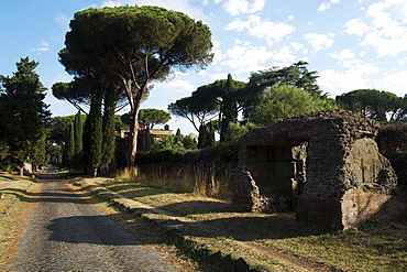 Along the Appian Way, Rome, Lazio, Italy, Europe