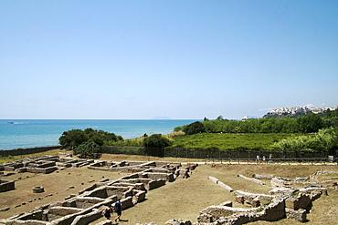 View of the Emperor Tiberius Villa, Sperlonga, Lazio, Italy, Europe