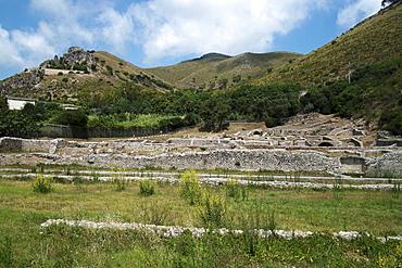 View of Emperor Tiberius Villa, Sperlonga, Lazio, Italy, Europe