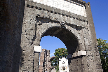 The Marcio Aqueduct gate entering the city, Rome, Lazio, Italy, Europe