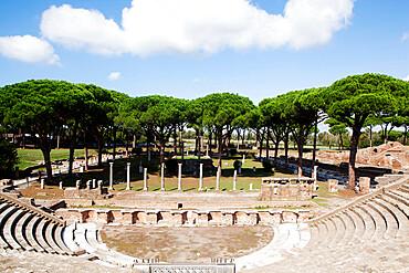 The Theatre of Ostia Antica, Lazio, Italy, Europe