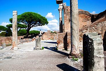 Forum thermal baths, Ostia Antica, Lazio, Italy, Europe