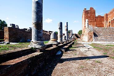 View of the Forum, Ostia Antica, Lazio, Italy, Europe
