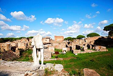View from Hercules Temple, Ostia Antica, Lazio, Italy, Europe