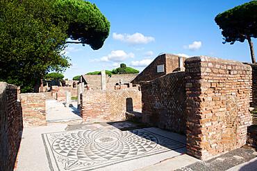 Apuleio's domus, Ostia Antica, Lazio, Italy, Europe